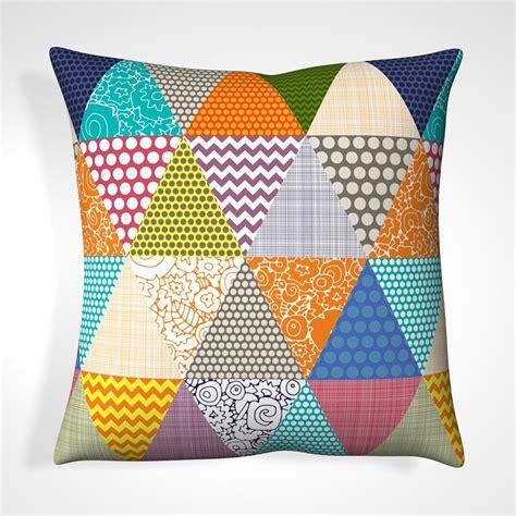 Patchwork Cushion Designs - cushion in patchwork triangle design cushions cuckooland