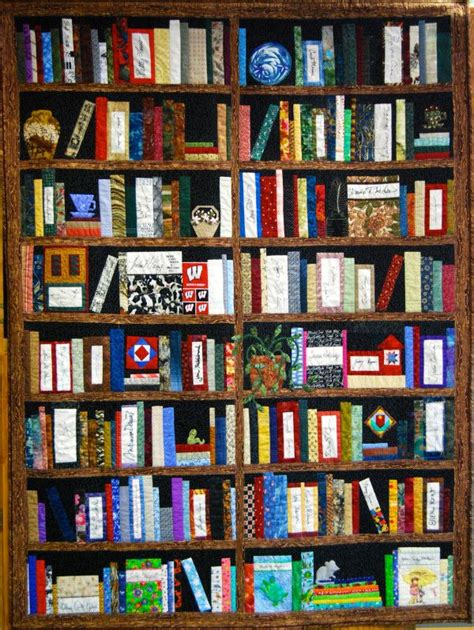 this is a real size bookshelf quilt of wisconsin