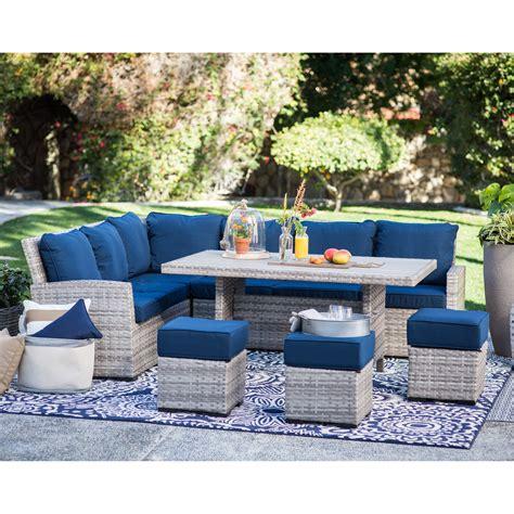 outdoor sofa dining set belham living brookville 6 all weather wicker sofa