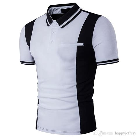 T Shirt Combi Colour cheap new polo black and white combination colour sleeve mens t shirt b90 by