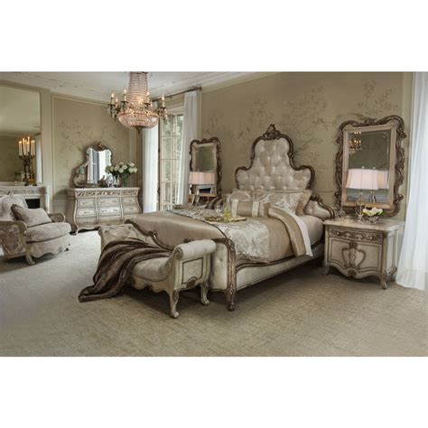 aico michael amini platine de royale panel bedroom set for