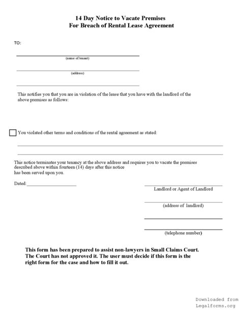 Eviction Template Free Louisiana Eviction Notice Template