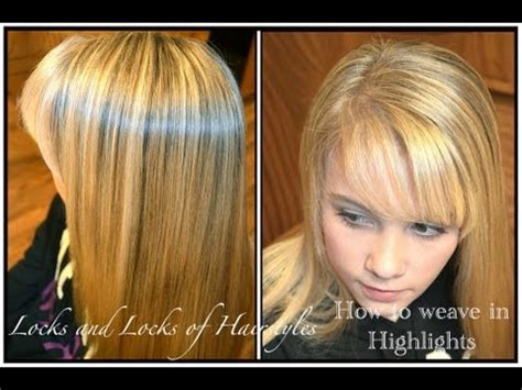 images of blond hair with hilites weaved into it how to weave highlights into hair youtube