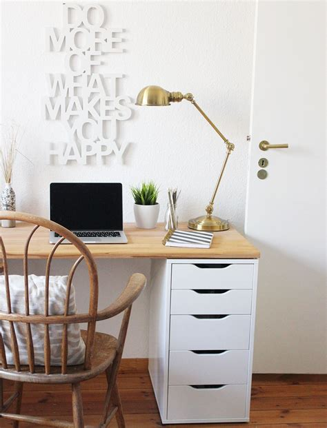Small Desk With Drawers Ikea Diy Desk For Two Using Ikea Alex Drawer A Wooden Countertop Easy Furniture Craft Craft