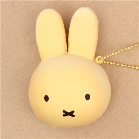 Rabbit Bun Squishy color miffy bunny rabbit bread bun squishy for bag backpack food squishies