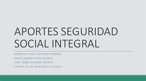 aportes a seguridad social 2016 aportes seguridad social integral
