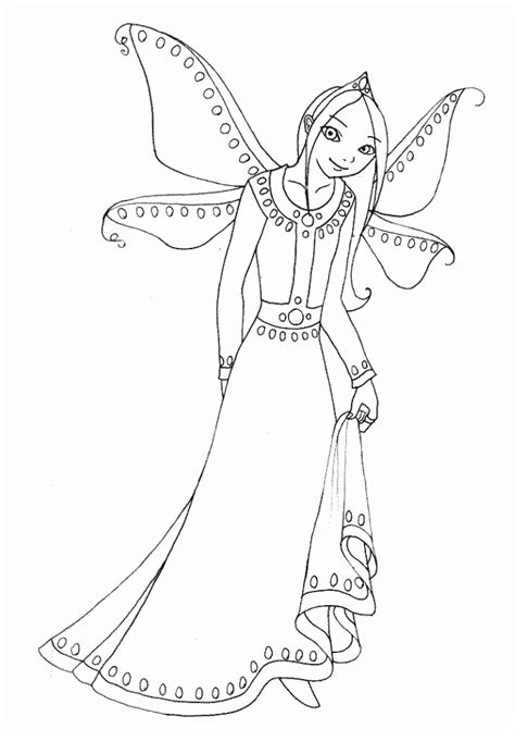 The Guardian Fairy Children Coloring Pages Fairy Guardian Coloring Page