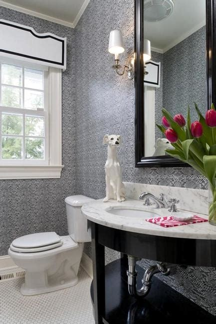 window decor powder room modern bathroom design and decorating with wallpaper