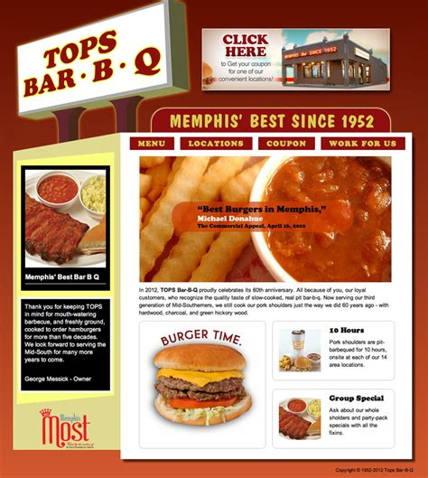 Tops Bar B Que by Mouse Foundry Tops B B Q