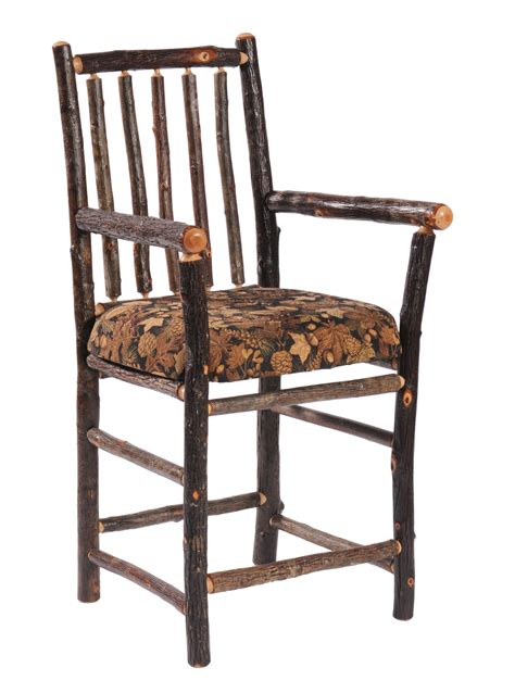 bar chairs with arms hickory bar chairs with arms hickory or upholstered seat