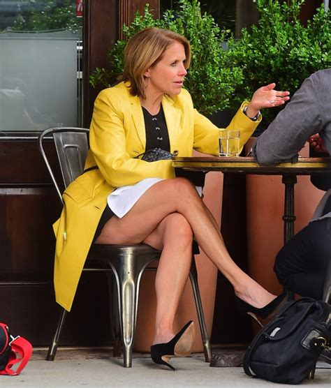 is katie couric skin warm or cool considered katie couric gives leg show as career takes a dive