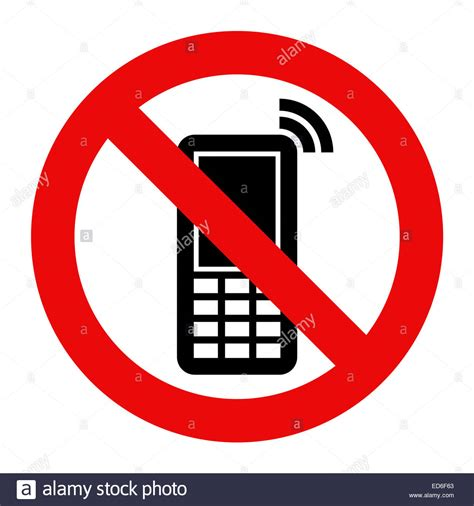 not mobile mobile phone prohibited no cell phone sign isolated on
