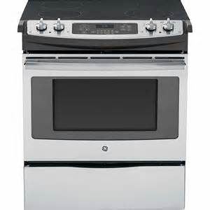 Thermador Gas Cooktop With Downdraft Ge Appliances Js630sfss 30 Quot Slide In Electric Range