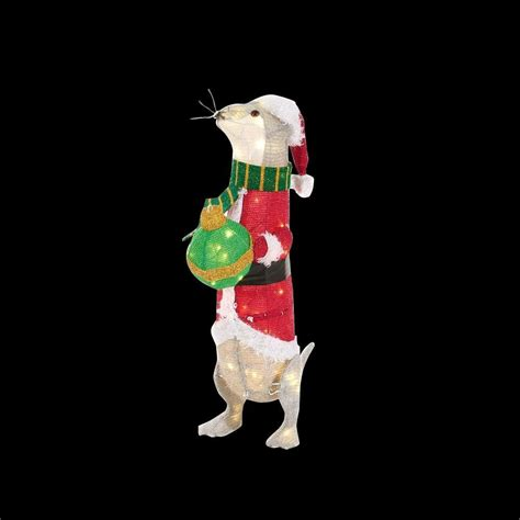 34 pre lit golden retriever christmas lawn ornament golden retriever yard decoration billingsblessingbags org