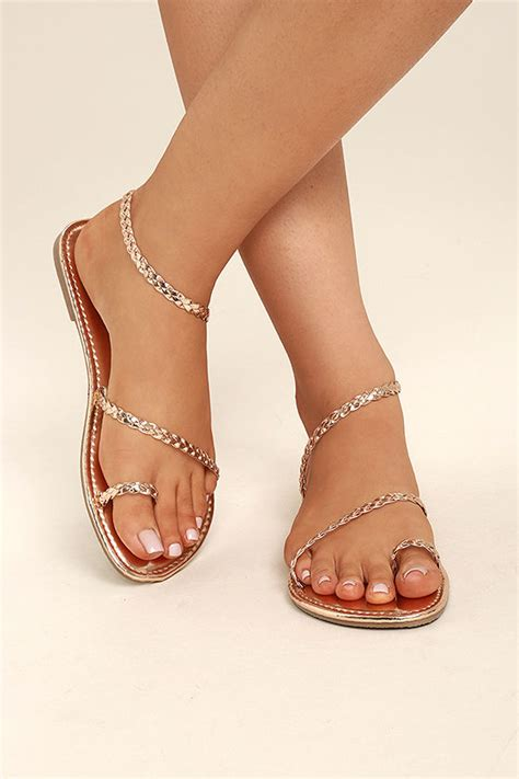 boho sandals gold sandals flat sandals toe loop sandals 17 00
