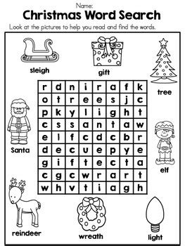 christmas pattern word christmas kindergarten vocabulary activities by united