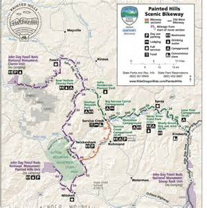 Painted Hills Oregon Map by Painted Hills Scenic Bikeway Named Oregon S 15th Official