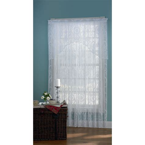 kmart window curtains essential home coraline lace white window panel