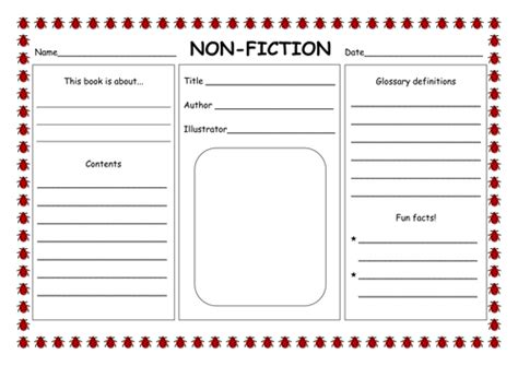 Montessori Template Fiction And Non Fiction Book Report Fiction Non Fiction Powerpoint By Hannahelizabethg