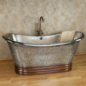 72 quot copper slipper clawfoot tub nickel