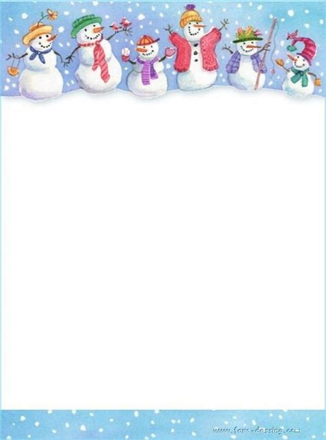 lined paper with snowman border pinterest the world s catalog of ideas