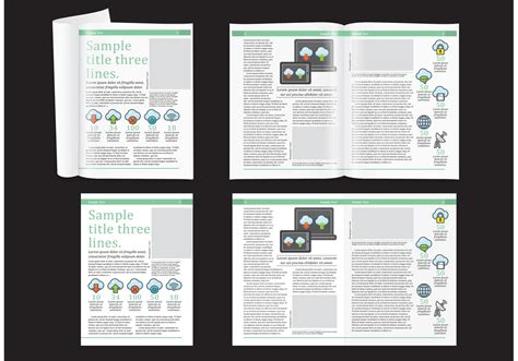 magazine layout vector free download technology magazine layout download free vector art