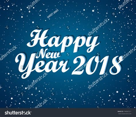 happy new year 2018 greeting card stock vector happy new 2018 year greetings card stock vector 746067211