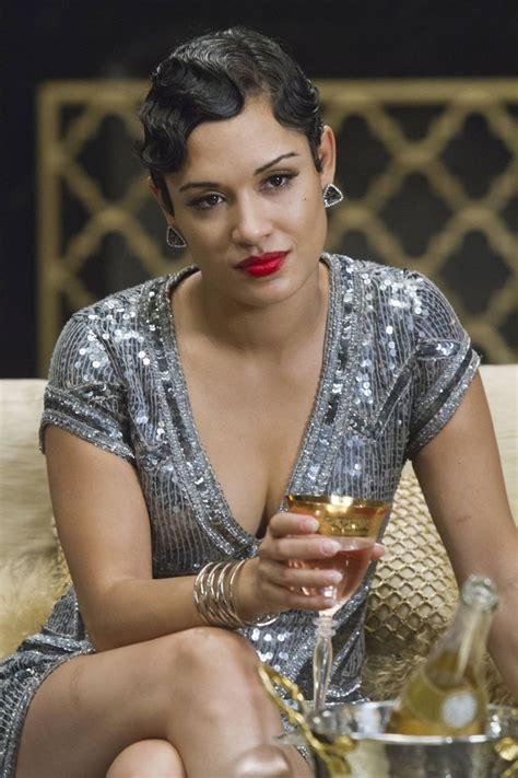anika from empire hair style anika calhoun grace gealey wore a parker silver sequin