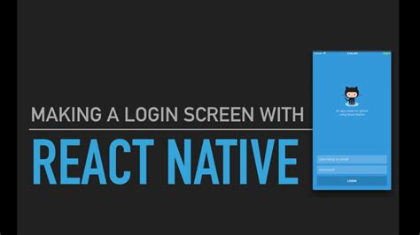 react native tutorial youtube react native tutorial 2 making a login screen youtube