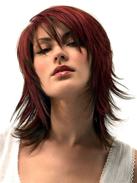 chopped up layer for med hair cuts layered haircut hair style