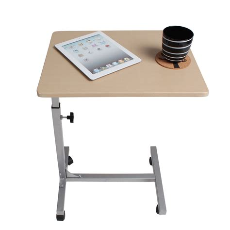 height adjustable rolling laptop notebook desk bed hospital table stand tray ebay