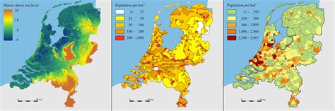 netherlands density map niederlande dichtekarte