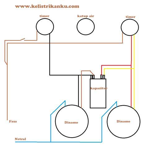 Mesin Cuci cara membuat rangkaian mesin cuci dua tabung sendiri