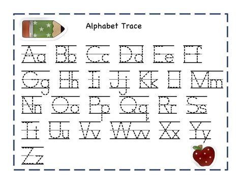 printable alphabet printable alphabet tracing pages activity shelter