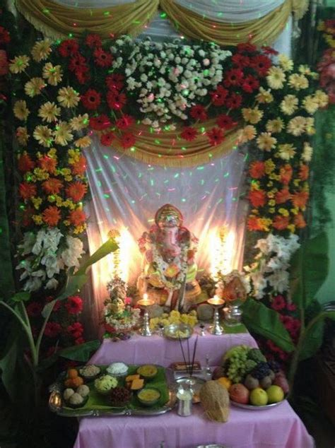 ganpati decoration ideas at home pooja room designs 49 best images about pooja decoration on pinterest