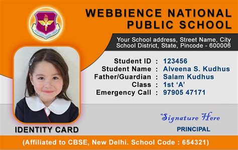student id card template cdr 38 awesome free id card template images psd id card