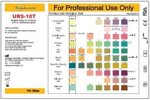 color results 10 parameters urine reagent strips urs 10 urinalysis test