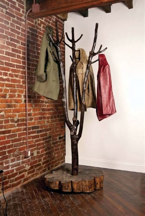 creative tree stands 40 cool and creative diy coat rack ideas bored