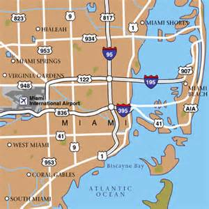Map Of Miami Area by Miami International Airport Airport Maps Maps And
