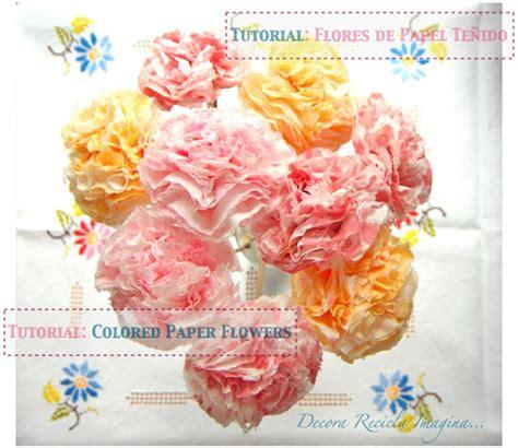 paper flower tutorial by dri decora recicla imagina c 243 mo hacer flores de papel how