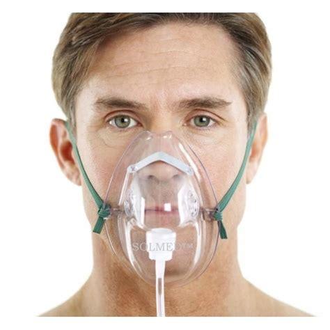 oxygen mask oxygen mask elongated with non lumen 210cm tubing