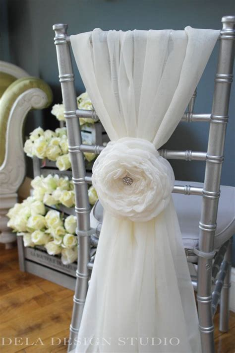 Folding Chair Decorations For Wedding Wedding 7 Quot Fabric Flower Cloud Rose Wedding Chair