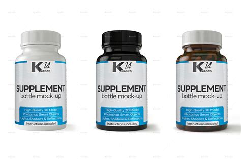 Supplement Bottle Mock Up V2 0 By Kir14 Graphicriver Pill Bottle Label Template Photoshop