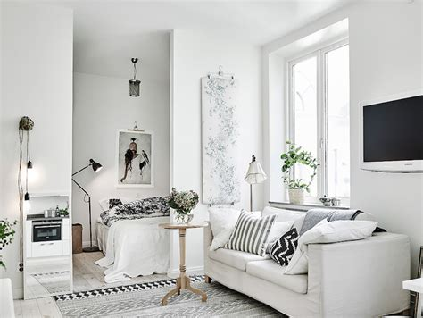white house apartments scandinavian studio apartment with bright white interiors