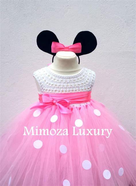 T Dress Mickey Minnie White minnie mouse dress minnie mouse birthday dress flower