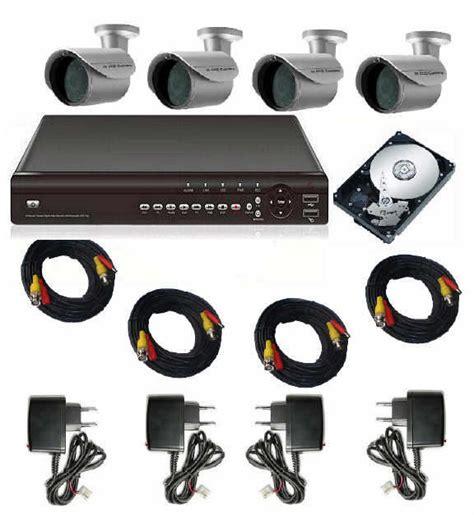 disk esterno alimentato a corrente kit videosorveglianza 4 telecamere infrarossi dvr