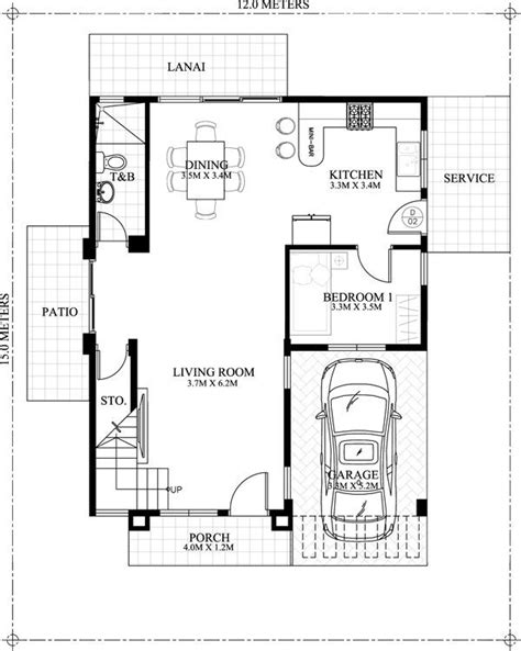 2 bedroom ground floor plan 30 best two story house plans images on pinterest modern
