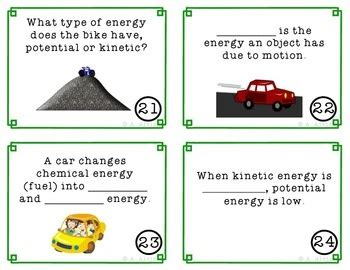is light energy potential or kinetic energy task cards scoot potential kinetic
