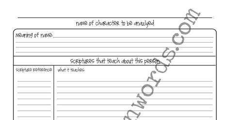character sketch template one of a scripture journal character analysis templates