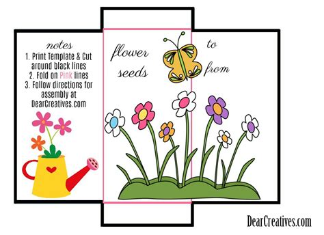 Seed Packet Template For Children seed packet template free printable and diy for your